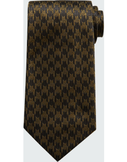 Men's Exploded Houndstooth Cotton Tie