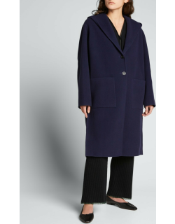 Hooded Double-Face Wool Coat