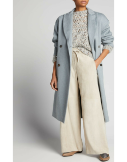 Belted Cashmere Double-Face Overcoat