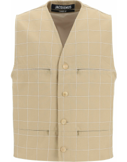 Jacquemus Embroidered Check Vest