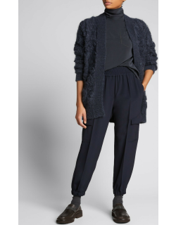 Cady Cargo Tapered-Leg Pants