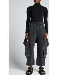 Tied-Up Cropped Sweatpants