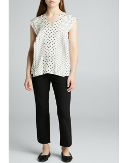 Yoked Cropped Pull-On Pants