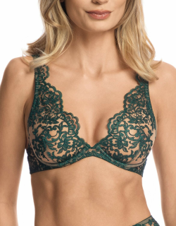 Royal Jewel Embroidered Tulle Underwire Bra