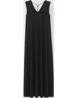 Axelle V-Neck Coverup Dress with Collar Detail