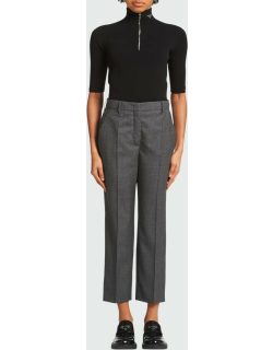 Galles Mouline Cropped Wool-Blend Trousers