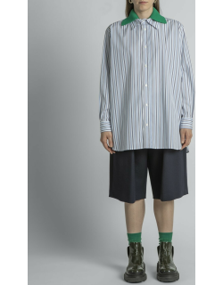 Double Collar Striped Shirt