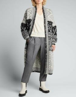 Wool Flannel Cropped Pants