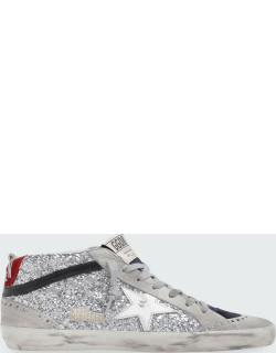 Mid Star Mixed Suede Glitter Sneakers