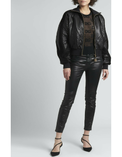 Leather & Suede Bomber Jacket