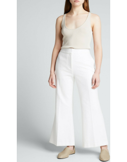 Cropped Fit-&-Flare Pants