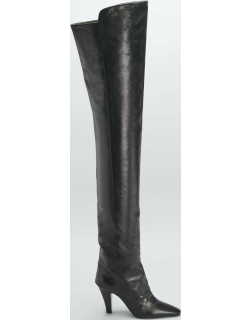 Dado Slouchy Calfskin Over-The-Knee Boots