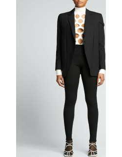 Novelty Jersey Leggings with Zippers