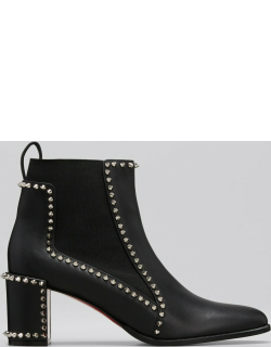Outline Spike Red Sole Ankle Booties