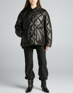 Shirin Quilted Leather Coat