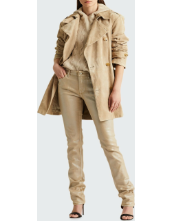 Arlington Belted Suede Trench Coat