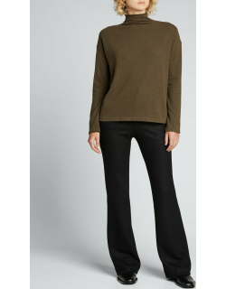Brushed Long-Sleeve Funnel-Neck Sweater