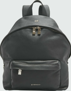 Men's Double U Leather Backpack