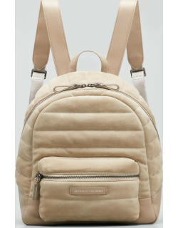 Monili Quilted Suede Backpack