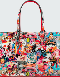 Cabata Oh Xtian Small Collage-Print Tote Bag