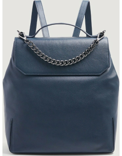7 For All Mankind Womens Leather Backpack in Navy