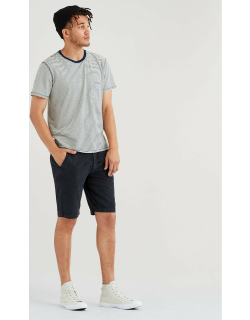 Chino Short in Washed Black