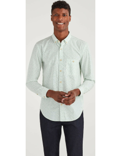 New Icon Button Down Collared Shirt in Ecru Floral