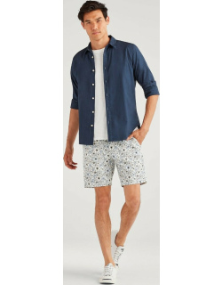 Print Chino Short in Faded Floral