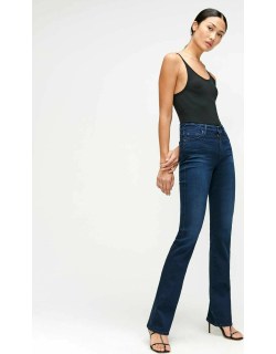 7 For All Mankind Womens Slim Illusion Kimmie Bootcut in Twilight Blue