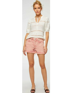 7 For All Mankind Womens Monroe Cut-Off Short in Mineral Rose