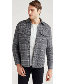 Double Face Shirt Jacket in Glen Plaid