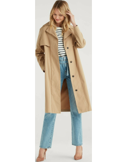 Wrap trench Coat in Camel
