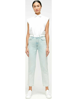 High Waist Cropped Straight with Braided Belt in Grand Street