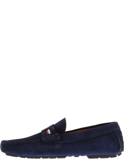 Tommy Hilfiger Iconic Suede Driver Shoes Navy