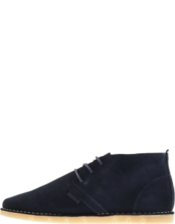 Barbour Ledger Suede Boots Navy