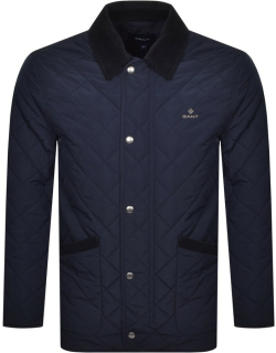 Gant Quilted Barn Jacket Navy