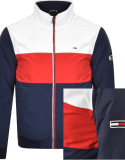 Tommy Jeans Colour Block Padded Jacket Navy
