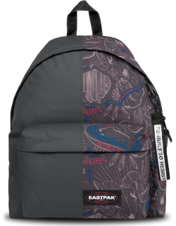 Eastpak Re-built: Recycled Padded Pak'r® Metal Grey/red Wolves, Polyester