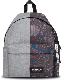 Eastpak Re-built: Recycled Padded Pak'r® Sunday Grey/red Wolves, Polyester