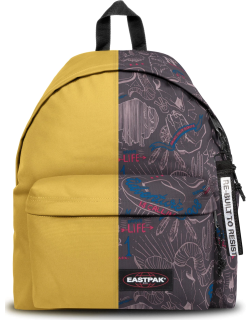 Eastpak Re-built: Recycled Padded Pak'r® Yellow/red Wolves, Polyester