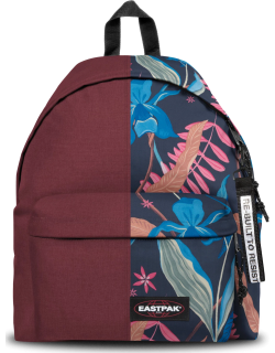 Eastpak Re-built: Recycled Padded Pak'r® Crafty Wine/tropic Flower, Polyester