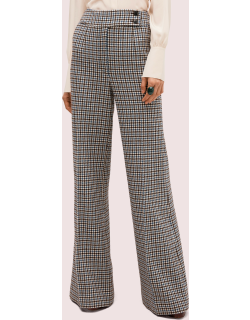 Pop Houndstooth Flare Pant - Cream - 4