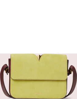 Mystery Suede Small Shoulder Bag - Yellow - One