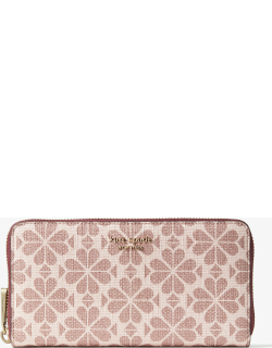 Spade Flower Coated Canvas Zip-Around Continental Wallet - Multi - One