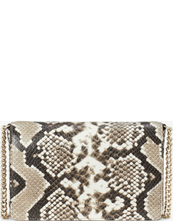 Spencer Python-Embossed Chain Wallet - Black - One