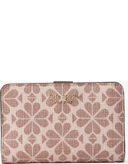 Spade Flower Coated Canvas Compact Wallet - Multi - One