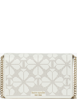 Spencer Perforated Chain Wallet - Cream - One