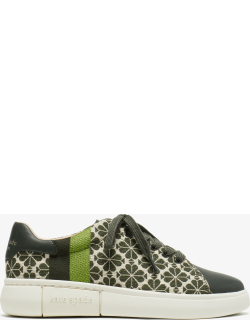 Keswick Spade Flower Jacquard Sneakers - Light Taupe / Olive (Swt) - 7.5