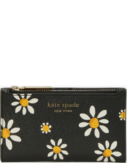 Spencer Daisy Dots Small Slim Bifold Wallet - Black - One