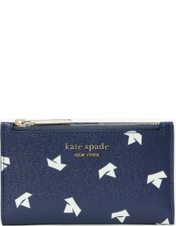 Spencer Paper Boats Small Slim Bifold Wallet - Squid Ink Multi - One